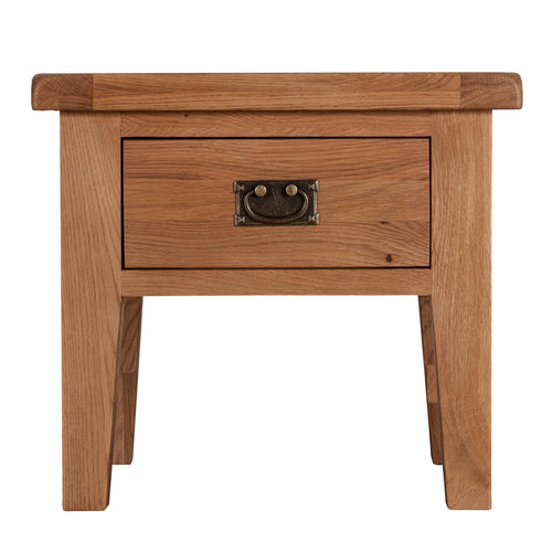 Cambridge Oak 1 Drawer Lamp Table