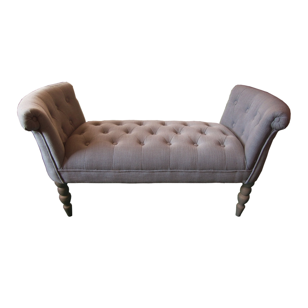 Alexandra Linen Chaise Lounge | Putty - HomePlus Furniture - HomePlus Furniture
