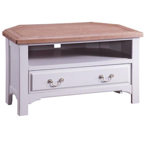 Georgia Grey Painted Oak Corner TV Unit