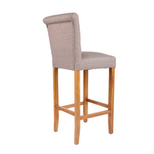 Luxury Stone Brown Fabric Bar Stool - HomePlus Furniture - HomePlus Furniture