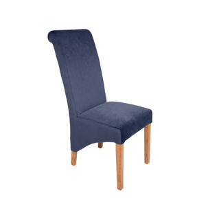 Rhianna Velvet Button Back Dining Chair - Navy - HomePlus Furniture - HomePlus Furniture
