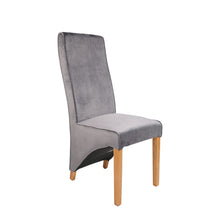 Regent Velvet Dining Chair - Grey