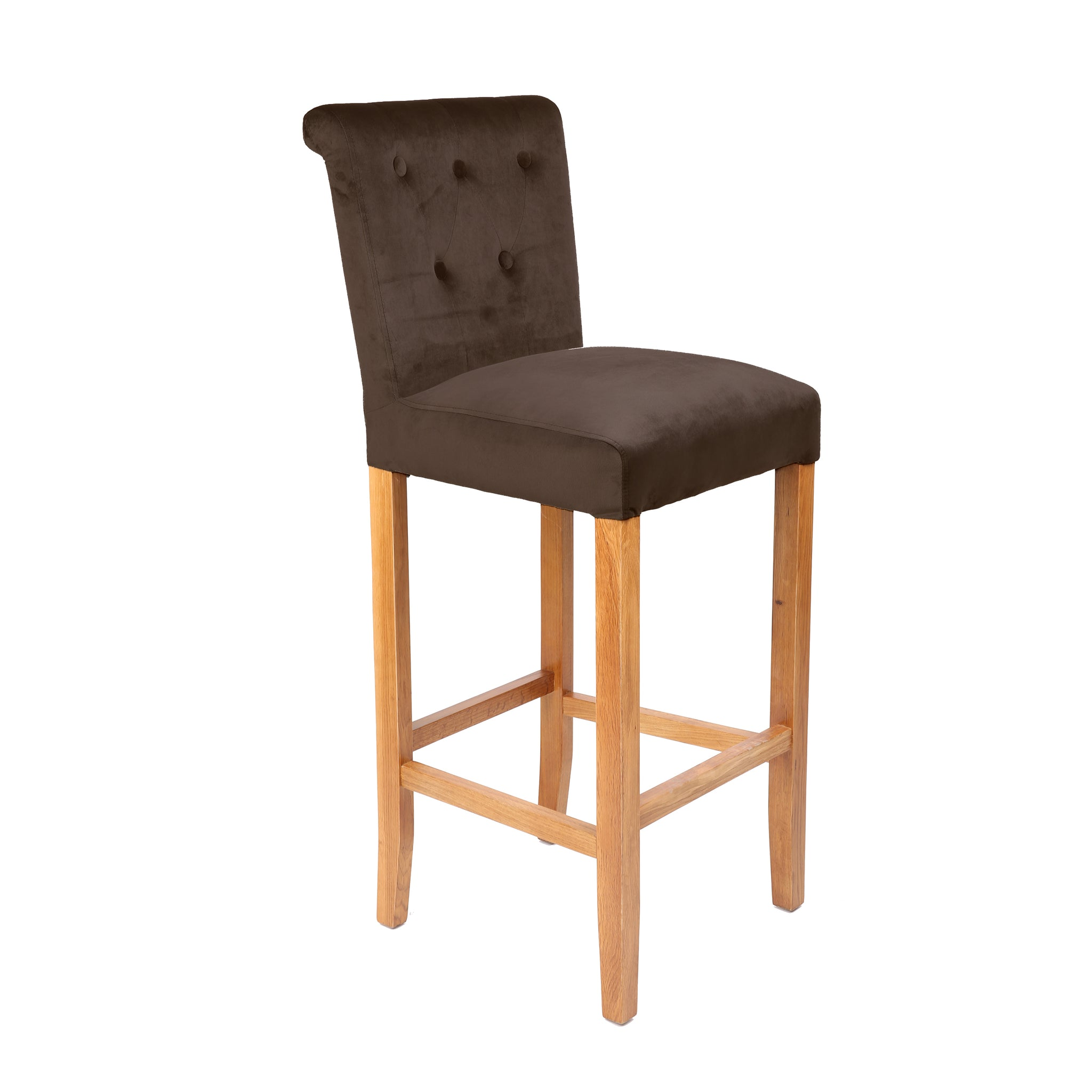 Incredible Luxury Brown Suede Bar Stool Homeplus Furniture Gmtry Best Dining Table And Chair Ideas Images Gmtryco