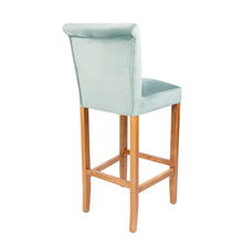 Luxury Velvet Bar Stool | Mint - HomePlus Furniture