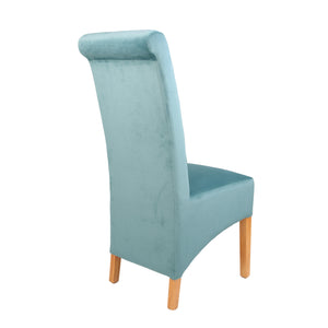 London Velvet Dining Chair - Duck Egg - HomePlus Furniture - HomePlus Furniture
