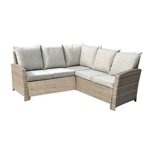 Francis Garden Corner Sofa Dining Set with Rising Table
