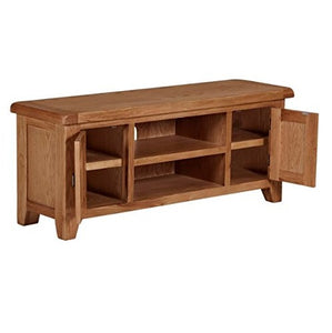 Cambridge Oak Extra Large TV Unit - HomePlus Furniture