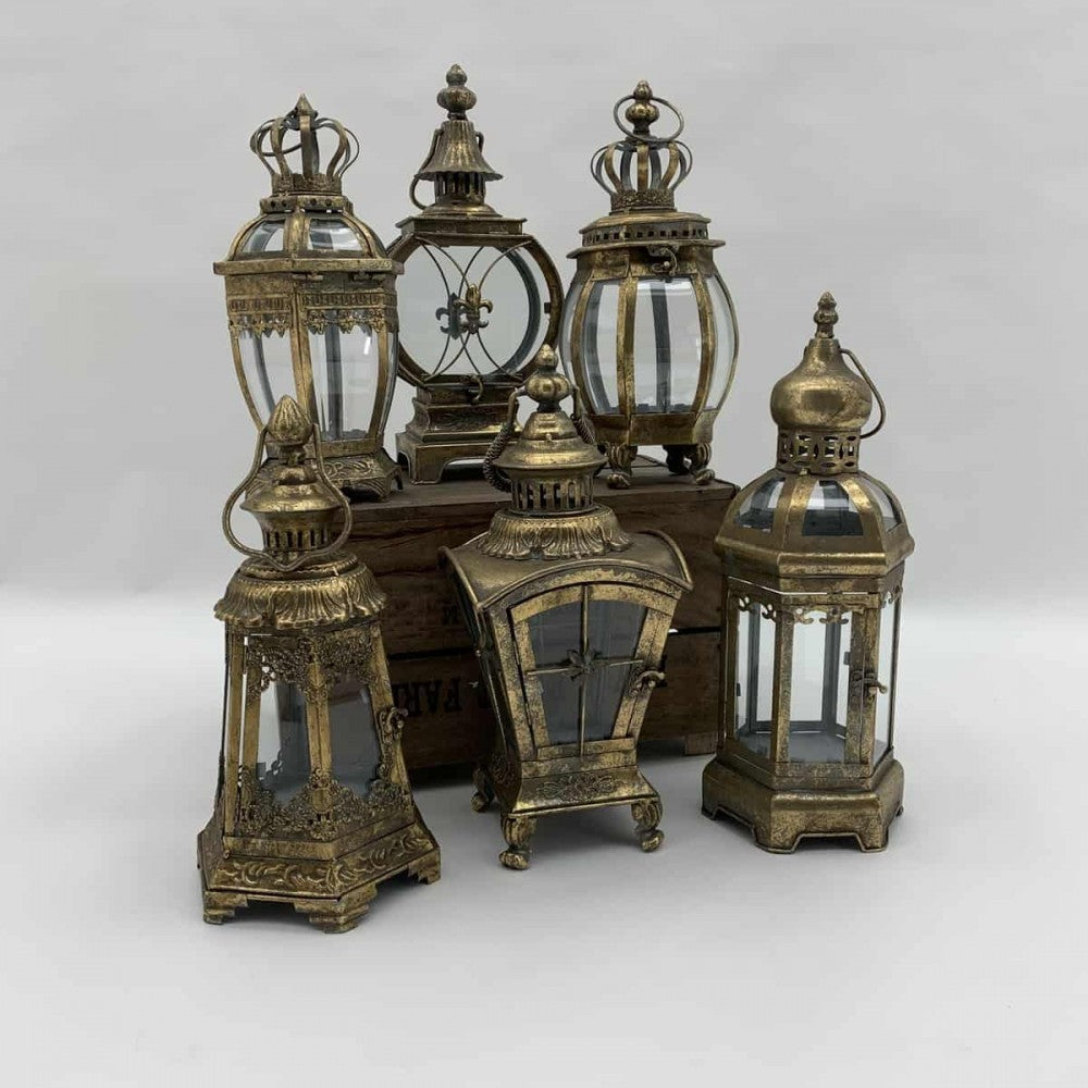 Assorted Gold Lanterns - HomePlus Furniture