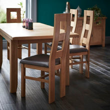 Cambridge Oak Large Extending Dining Table (1.8 m-2.3 m) - HomePlus Furniture