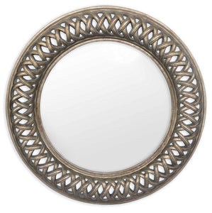 Lancaster Circular Mirror | Antique Pewter - HomePlus Furniture
