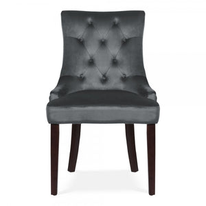 Windsor Velvet Knocker Dining Chair | Charcoal - HomePlus Furniture