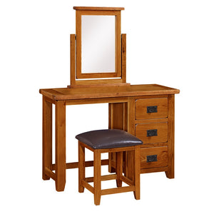 Mini Rustic Canterbury Dressing Table - HomePlus Furniture