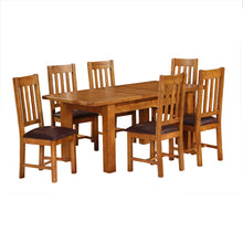 Rustic Canterbury Oak Extending Dining Table (1.4 m-1.8 m)