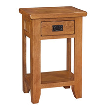 Mini Rustic Canterbury 1 Drawer Console Table - HomePlus Furniture
