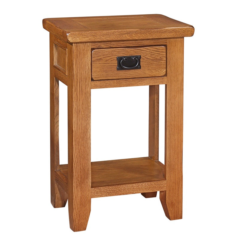 Mini Rustic Canterbury 1 Drawer Console Table - Mini Rustic Canterbury - HomePlus Furniture