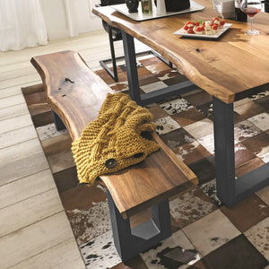 Acacia Live Edge Small Bench