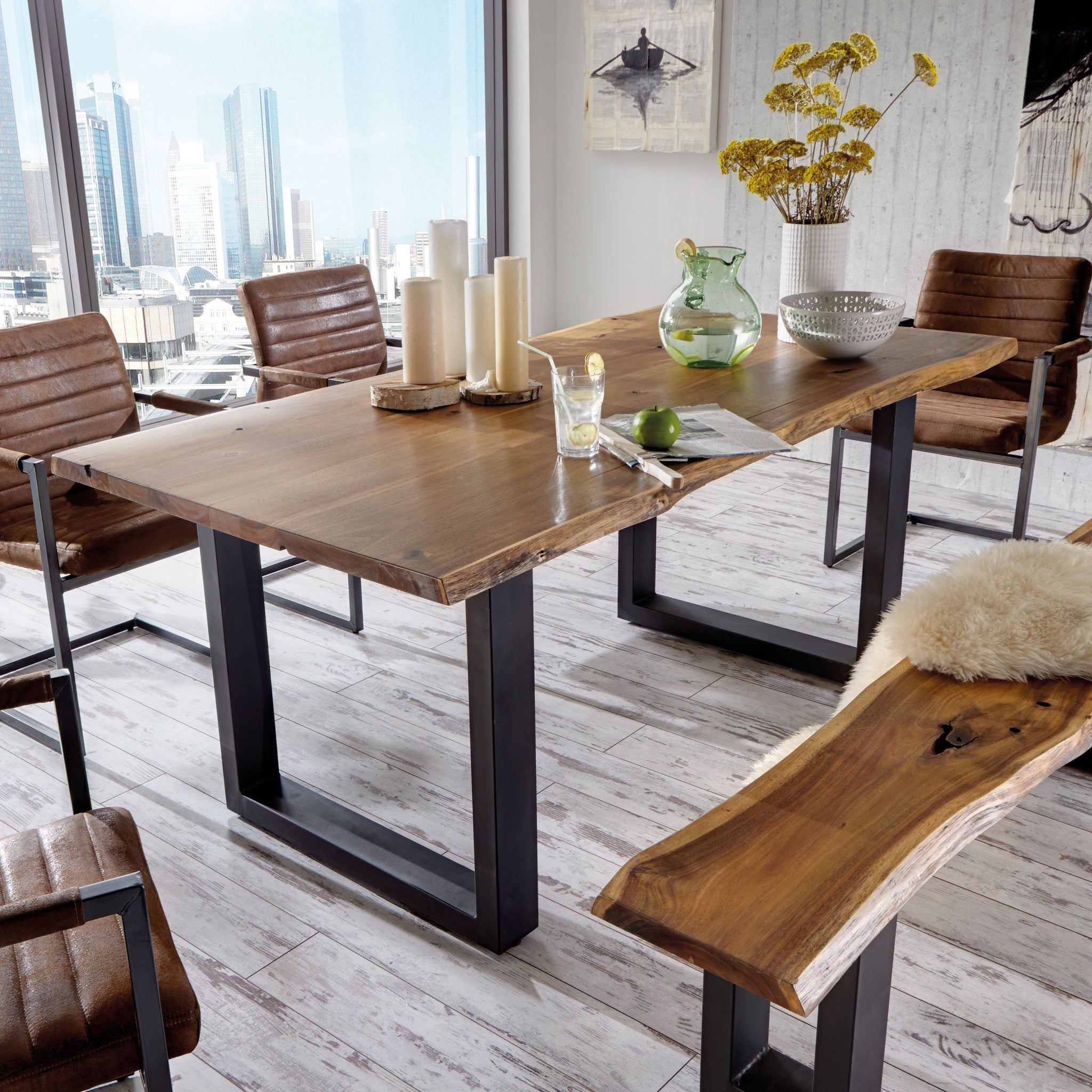 Picture of: Acacia Live Edge Dining Table 2 0 M Homeplus Furniture