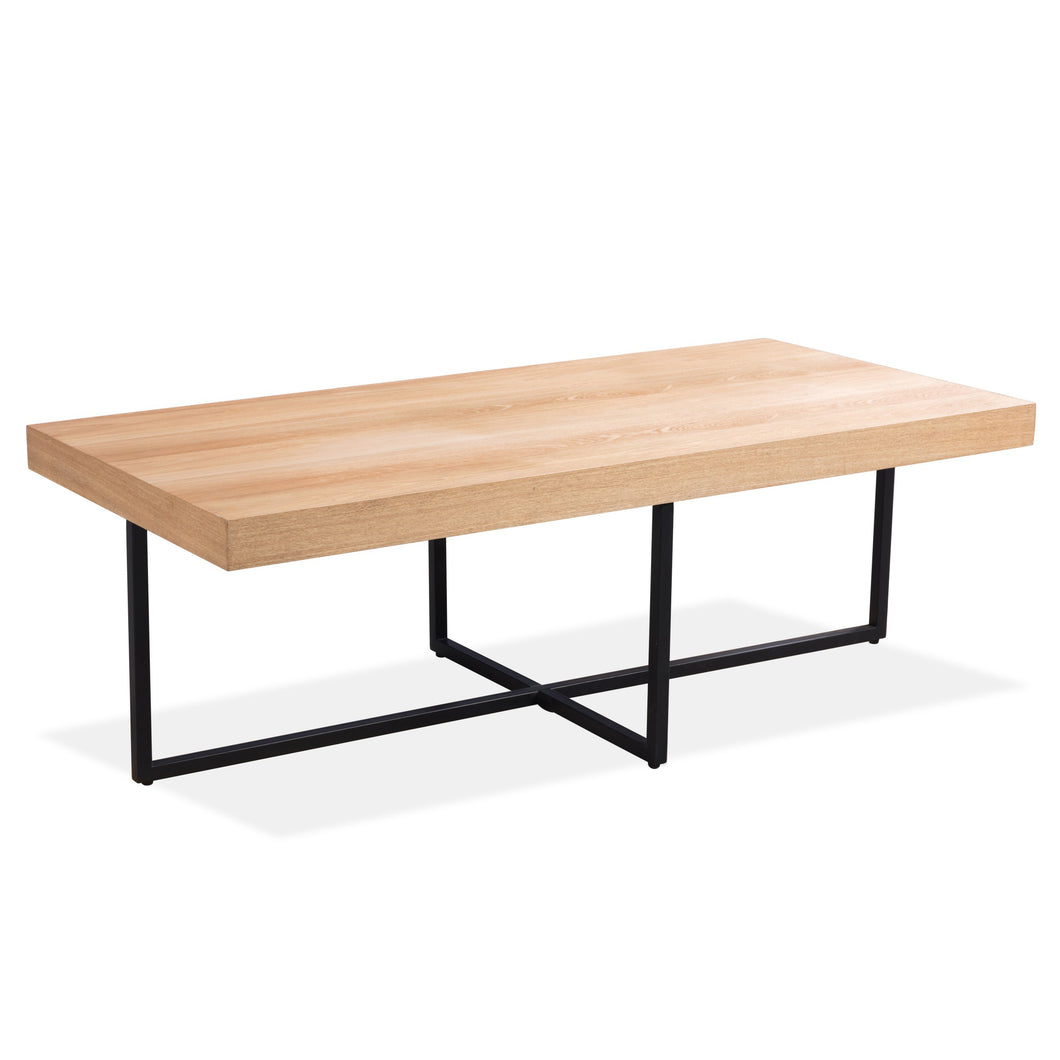 Boston Coffee Table With Iron Legs - HomePlus Furniture