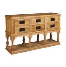 Reclaimed Elm Cabinet With 6 Drawers - HomePlus Furniture - HomePlus Furniture