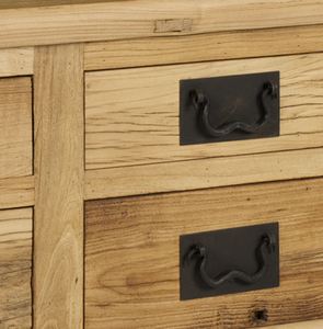 Reclaimed Elm Cabinet With 4 Drawers - HomePlus Furniture