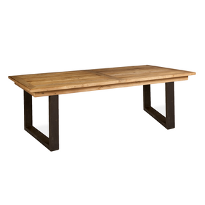 Reclaimed Elm Dining Table With Iron Legs (1.8 m) - HomePlus Furniture - HomePlus Furniture