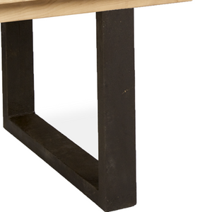 Reclaimed Elm Dining Table With Iron Legs (1.8 m) - HomePlus Furniture