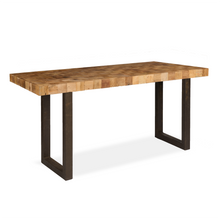 Reclaimed Elm Mosaic Bar Table With Iron Legs - HomePlus Furniture