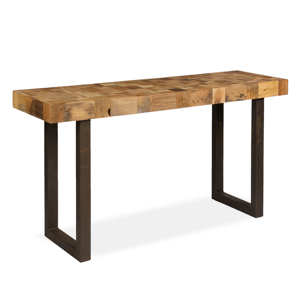 Boston Mosaic Console Table With Iron Legs - Boston - HomePlus Furniture