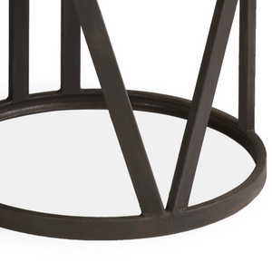 Boston Round Coffee Table With Iron Frame