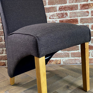 Baxter Linen Dining Chair | Chocolate Brown - HomePlus Furniture