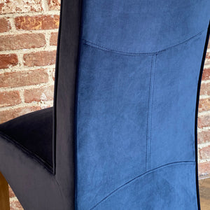 Baxter Velvet Dining Chair | Navy - HomePlus Furniture