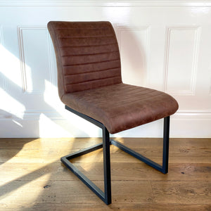 Bruut Industrial Dining Chair | Brown