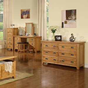 Canterbury Oak 6 Drawer Wide Chest