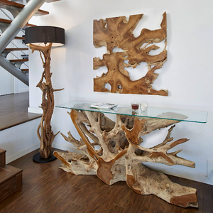 Teak Root Console Table - HomePlus Furniture