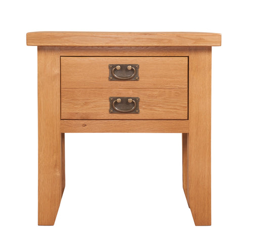 Canterbury Oak Lamp Table with Drawer