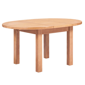 Canterbury Oak Round Extending Dining Table