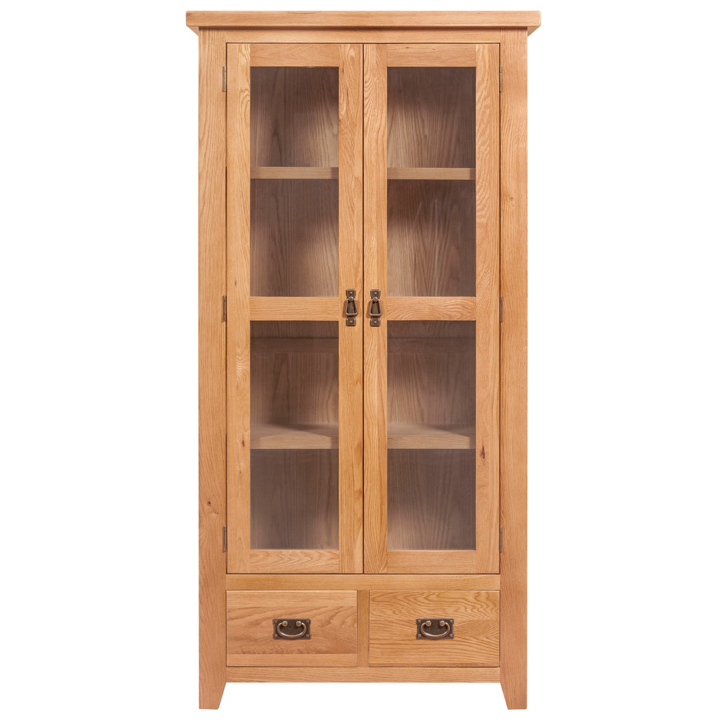 Canterbury Oak Small Display Cabinet
