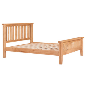 Waxed Canterbury Oak Bed (Available in 4ft 6' & 5ft)