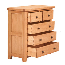 Waxed Canterbury Oak 2 Over 3 Chest Of Drawers