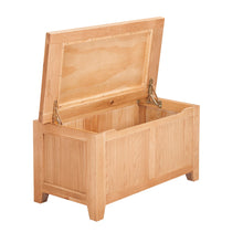 Waxed Canterbury Oak Blanket Box - Waxed Canterbury - HomePlus Furniture