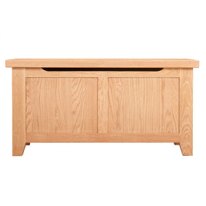 Waxed Canterbury Oak Blanket Box - HomePlus Furniture