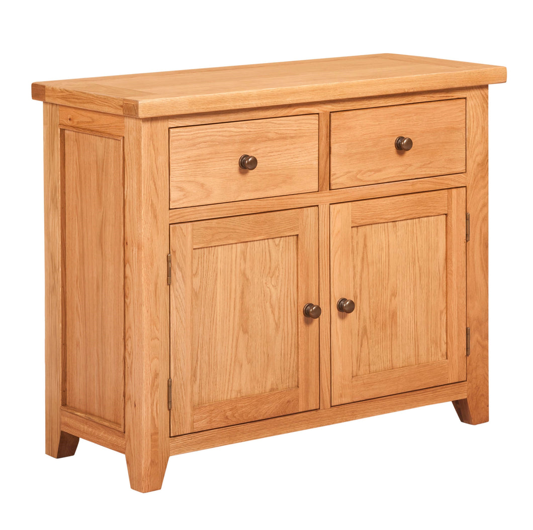 Waxed Canterbury Oak 2 Door 2 Drawer Sideboard