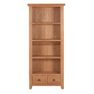 Waxed Canterbury Oak Large Bookcase (1.8 m) - HomePlus Furniture