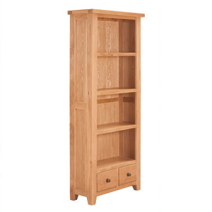 Waxed Canterbury Oak Large Bookcase (1.8 m) - Waxed Canterbury - HomePlus Furniture