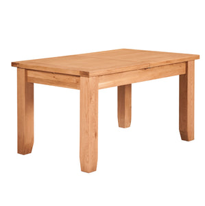 Waxed Canterbury Oak Extending Dining Table (0.9 m-1.3 m) - HomePlus Furniture