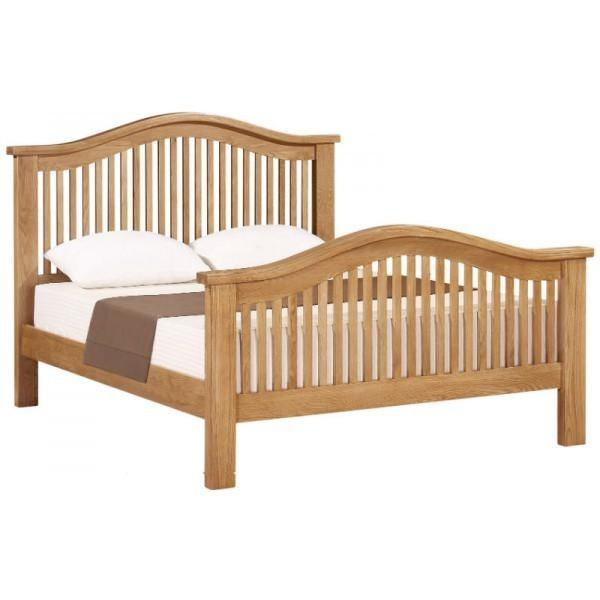 Waxed Canterbury Oak 5ft Kingsize Curved Bed - Waxed Canterbury - HomePlus Furniture