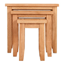 Waxed Canterbury Oak Nest Of Tables - HomePlus Furniture
