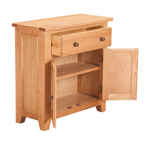 Waxed Canterbury Oak Mini Sideboard - Waxed Canterbury - HomePlus Furniture