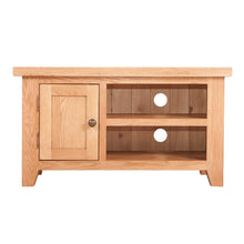 Waxed Canterbury Oak Small TV Unit