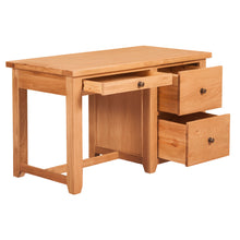 Waxed Canterbury Oak Office Desk - Waxed Canterbury - HomePlus Furniture